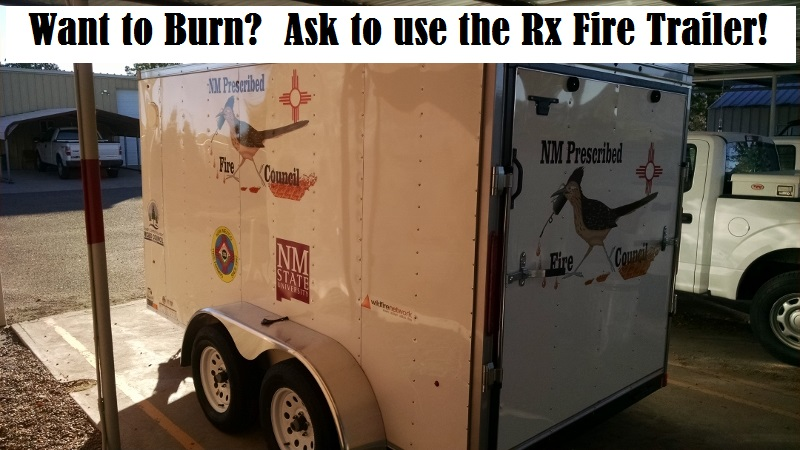 Image of prescribed fire trailer.